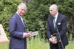 BRITAIN London 13/07/2017HRH The Prince of Wales with the Shire Horses of Operation Centaur at the launch of the Royal Parks Charity Here Prince Charles reads the book The Last Herd by Daily Express photographer Paul Stewart about the Royal Parks Shire horses Also Pictured Loyd Grossman©Paul Stewart 2016@@PS_HRH1028.JPG