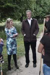 BRITAIN  Richmond  25/05/2016 OPS: Local MP Zac Goldsmith visits the avenues round Ham House in Petersham, where volunteers from Thames Landscape Strategy are working with the Royal Parks Shires to maintain the paths in their glory. The horses are used to mow the grass and cow parsley that would otherwise block the paths, ©Picture by Paul Stewart 2016